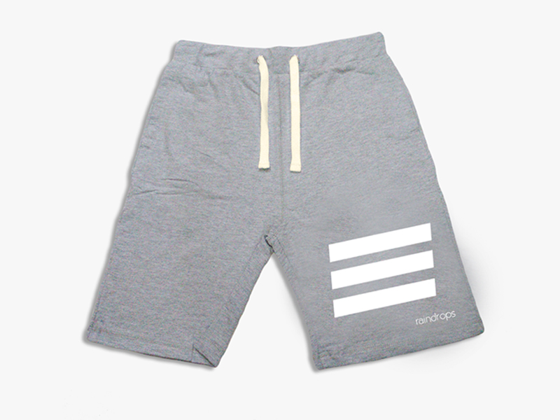 Grey Triple Stripes Shorts
