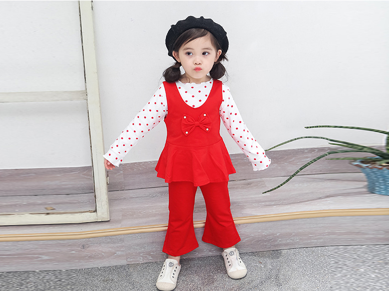 Red Frock and Red Pant for Kids