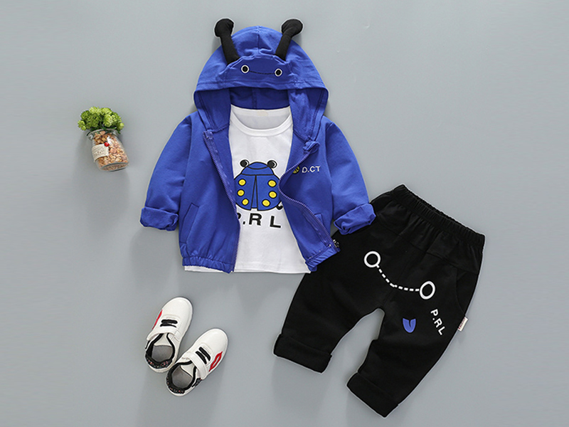 Blue Hoodie and Black Pant for Kids