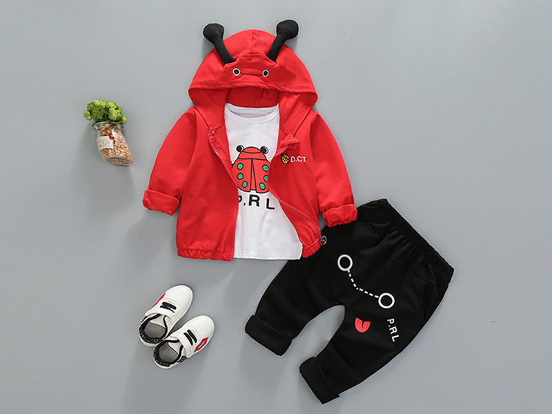 Red Hoodie and Black Pant for Kids