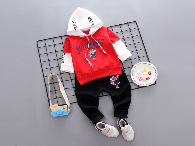Red Hoodie and Black Pant for Sweet Kids