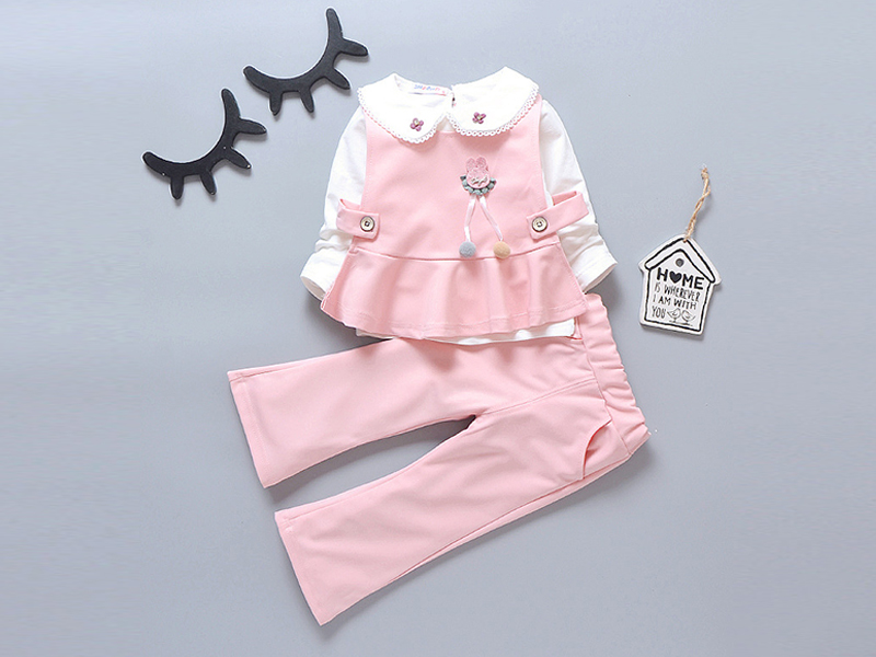 Pink cute Frock and Pant for Kids