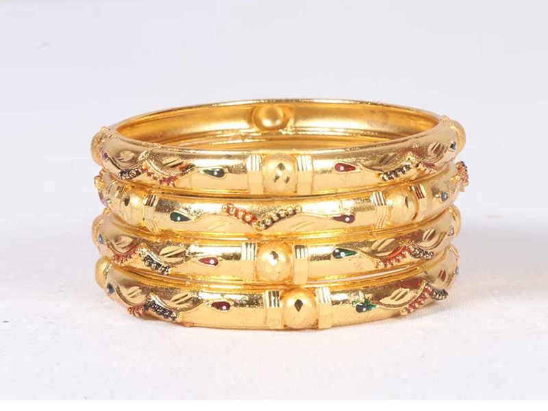 Indian Gold Plated Imitation  Bangles ( 2 Piece )