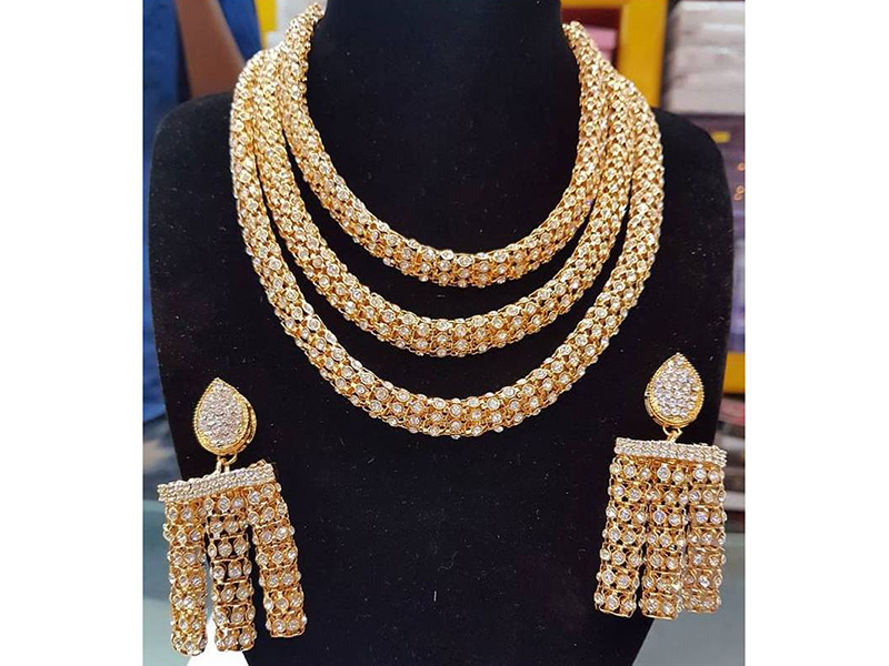 Pearl Chain Link Multi Layer  Imitation Necklace Set for Women
