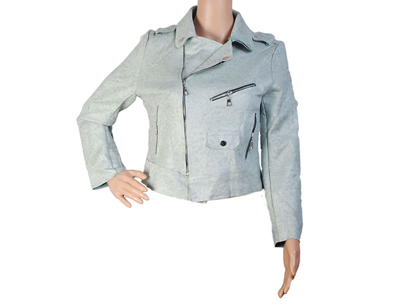 Sky Faux Leather Jacket for Women