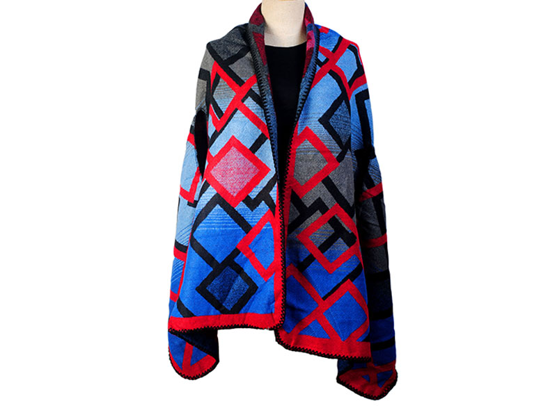 Multi-Color Winter Poncho for Women