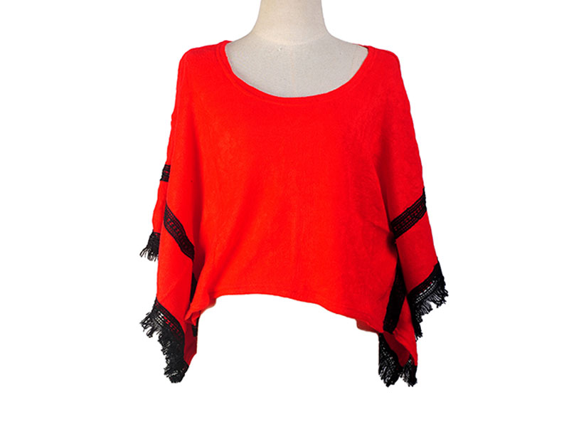 Red Short Cape for Women