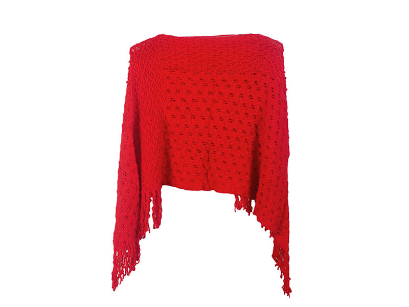 Red Short Winter Shrug For Women
