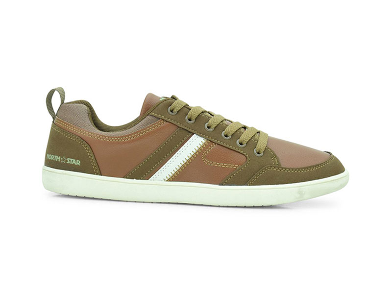 Brown Lace-Up Sneakers For Men