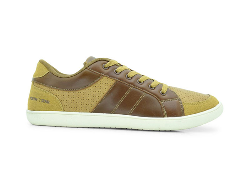 Brown Lace-Up Sneakers For Men-8814036