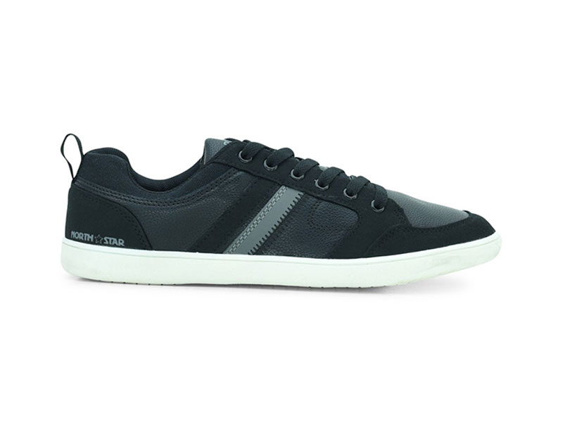 Black Lace-Up Sneakers For Men 8816032