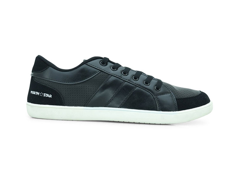 Black Lace-Up Sneakers For Men-8816036