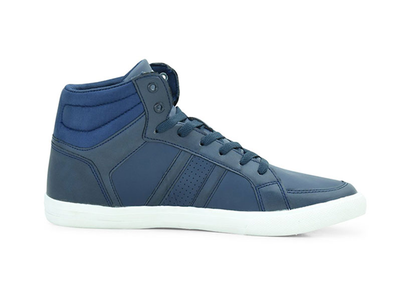 Blue High Cut Casual Sneakers For Men-8819033