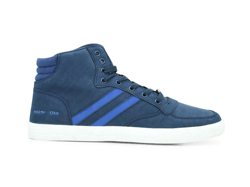 Blue High Cut Casual Sneakers For Men-8819042