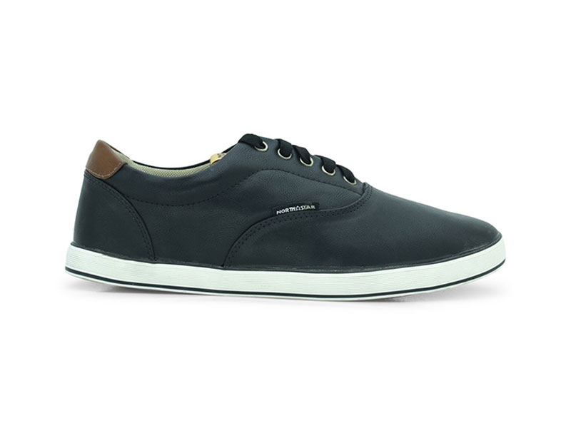 Black Lace-Up Sneakers For Men-8896083