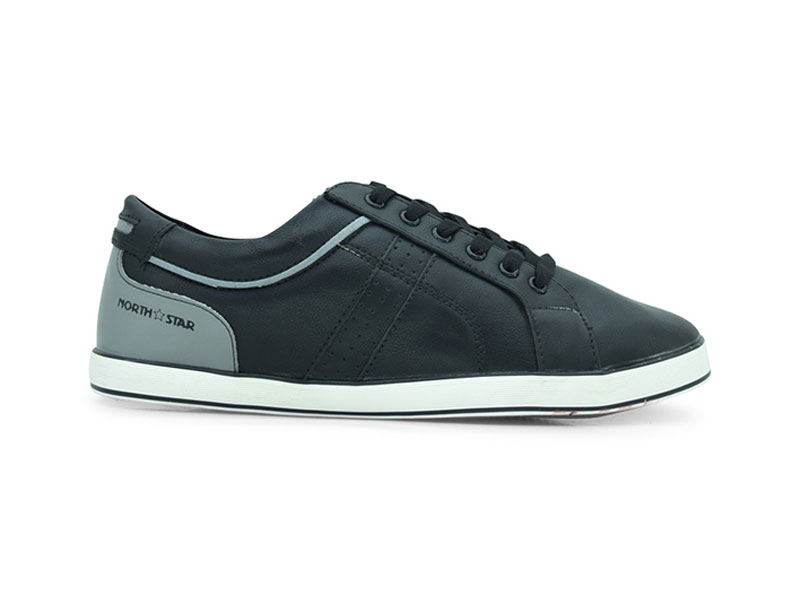 Black Lace-Up Sneakers For Men-8896121