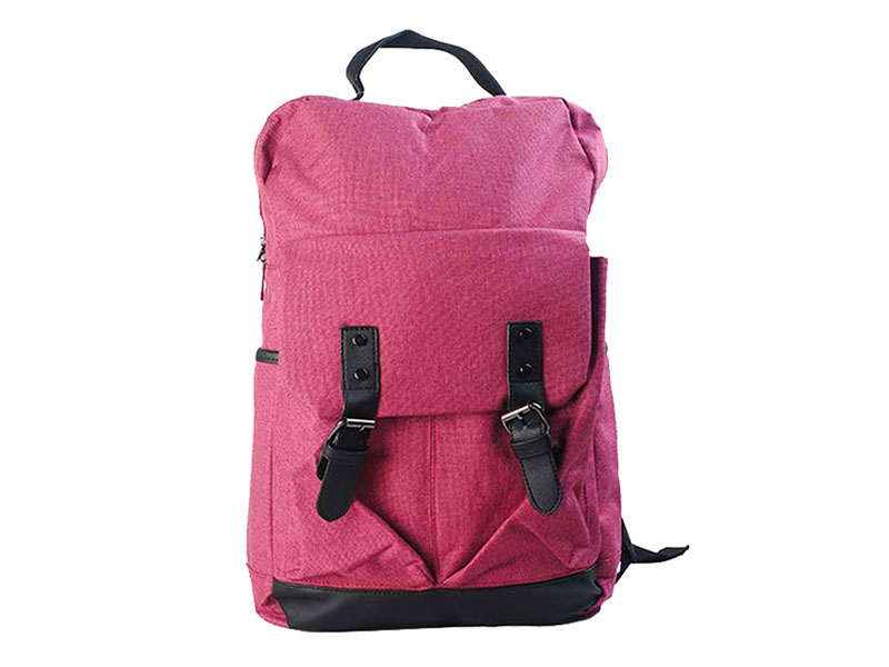 Purple Cotton Backpack-4014