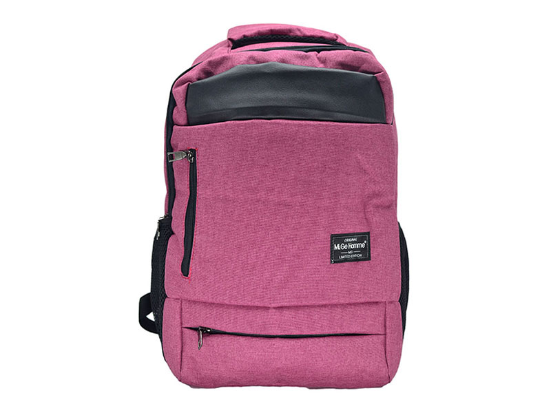 Purple Cotton Backpack-4104