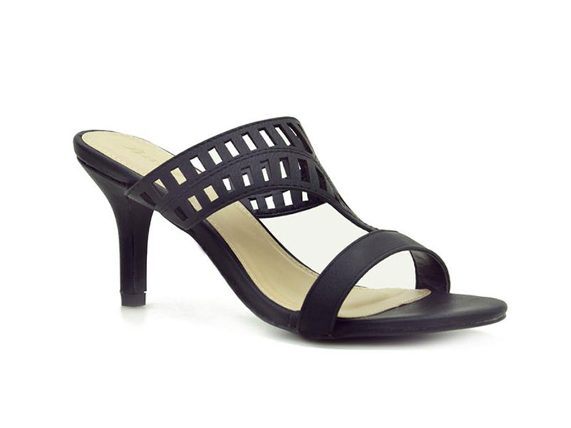 Ladies heel sandals with Laser cut-out upper-6716496