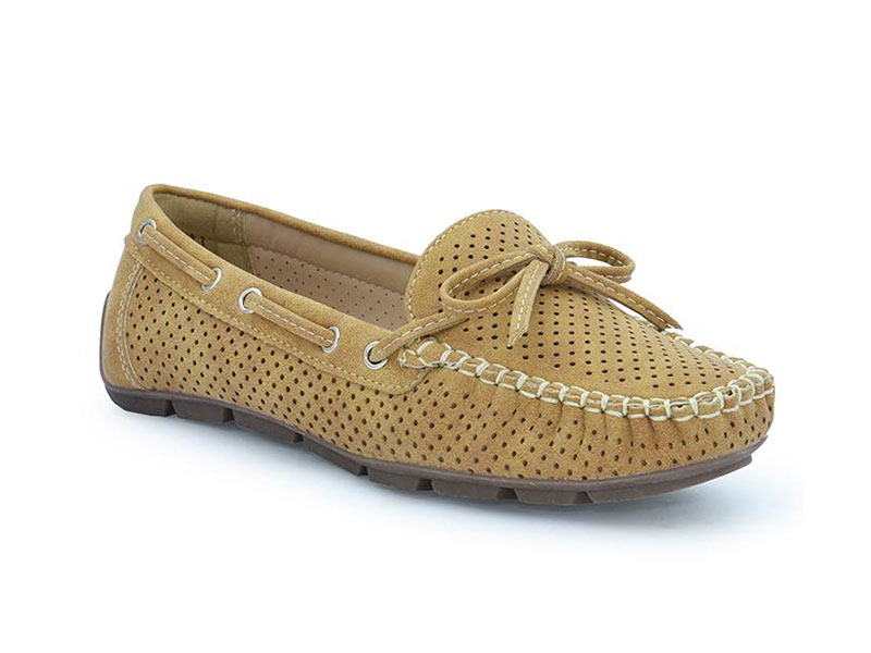 Ladies Casual Moccasin Shoes-5514316