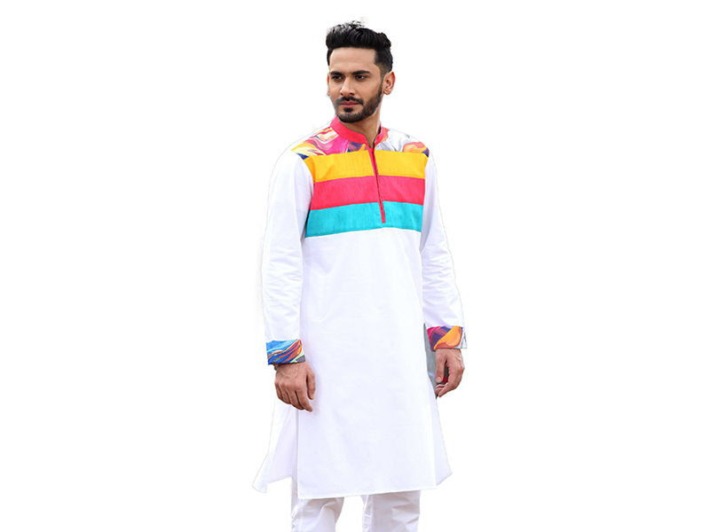 MULTI COLOR DESIGN LONG PANJABI FOR MEN-LP-1062