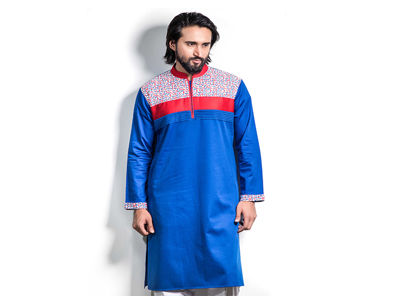 COUNTRY BOY MULTI COLOR DESIGN LONG PANJABI FOR MEN-LP-1058