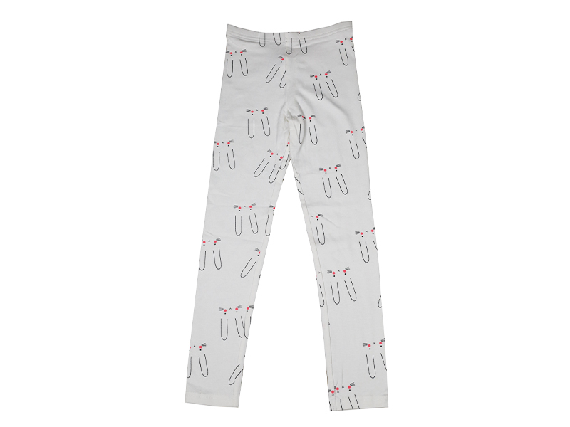 Cat Shape Printed Trouser for Baby- White