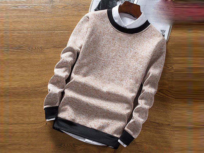 Men's Brown Sweater With Black Border