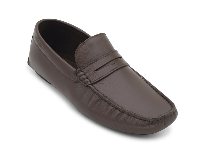 Brown Causal Leather Moccasins For Men-8544948