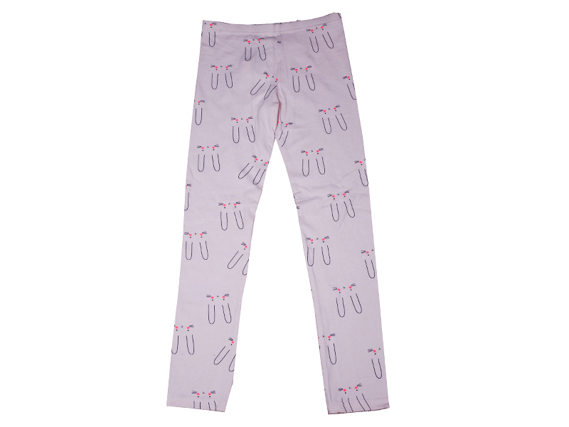 Cat Shape Printed Trouser for Baby- Light Pink