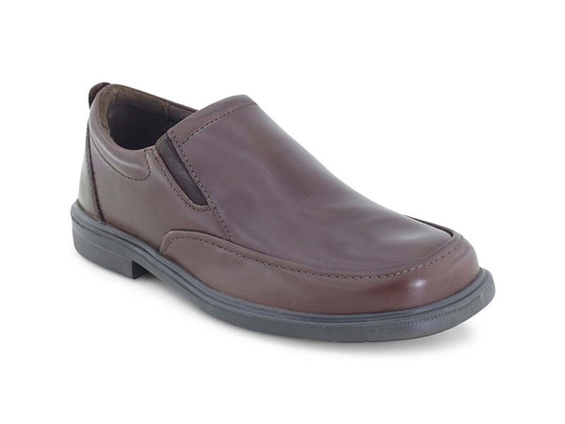 Men's Formal Brown Leather Shoes-8044581