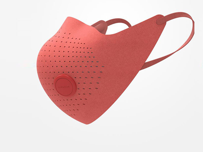 MI Air Wear Anti Haze  Mask (Red)
