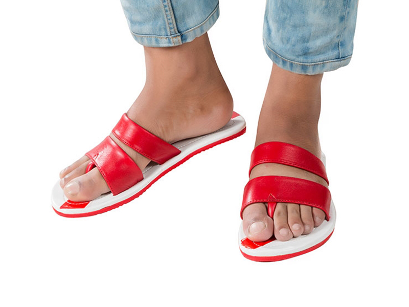 Men's Stylish Genuine Leather Sandals-Red GF0013