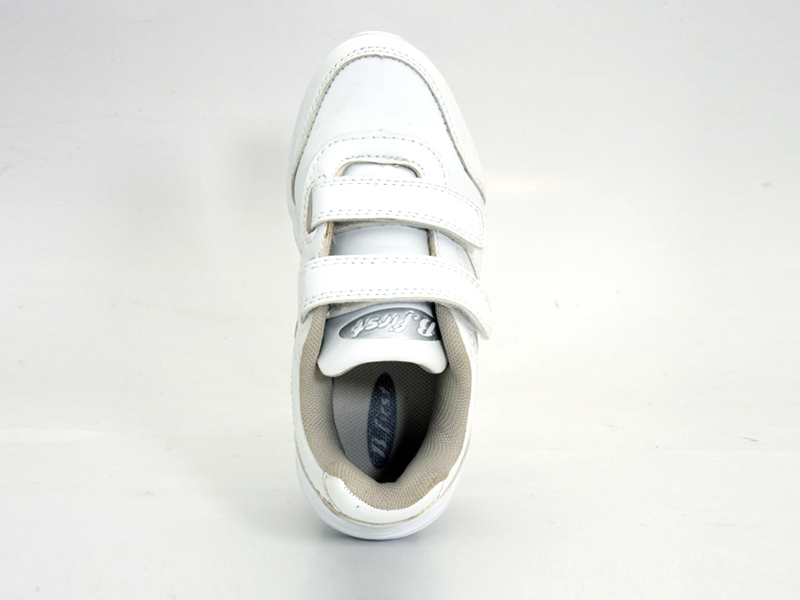 Neat-White School Shoe for Children with Dual Velcro Closure-351-1084 (1)