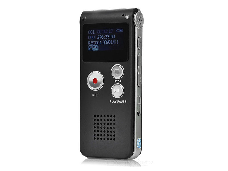 Digital Rechargeable Voice Recorder With Mp3 Player 8GB