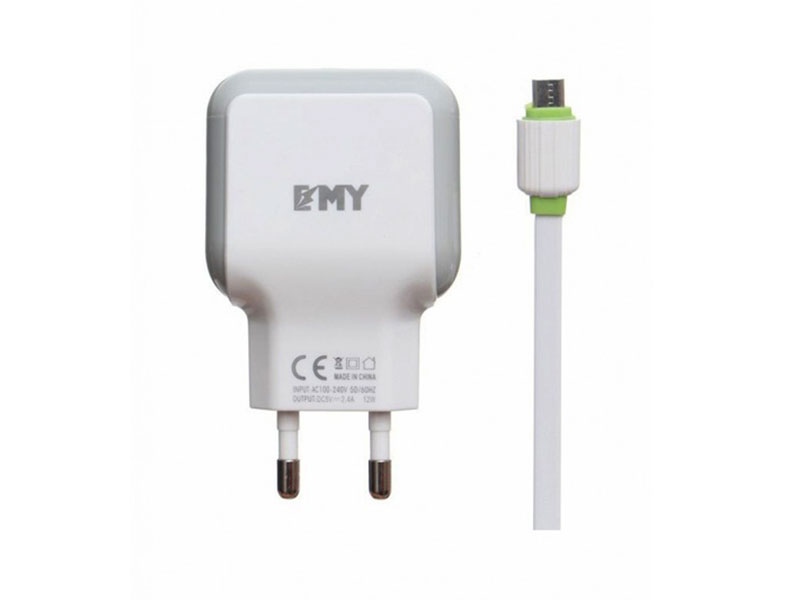 EMY 2USB 2.4A Fast Charger For Android