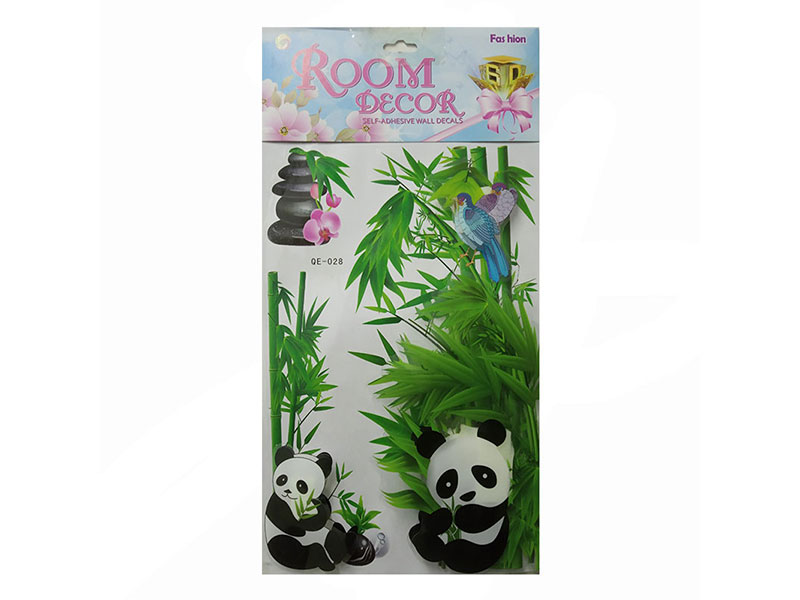 Wall Sticker DYI Panda Room Decor (QE-028)