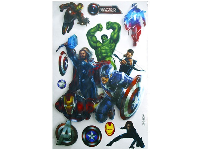Wall Sticker DYI Avangers Room Decor