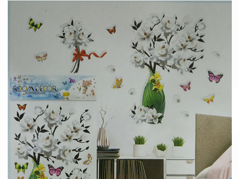 Wall Sticker DYI Floral Room Decor (XF-502)
