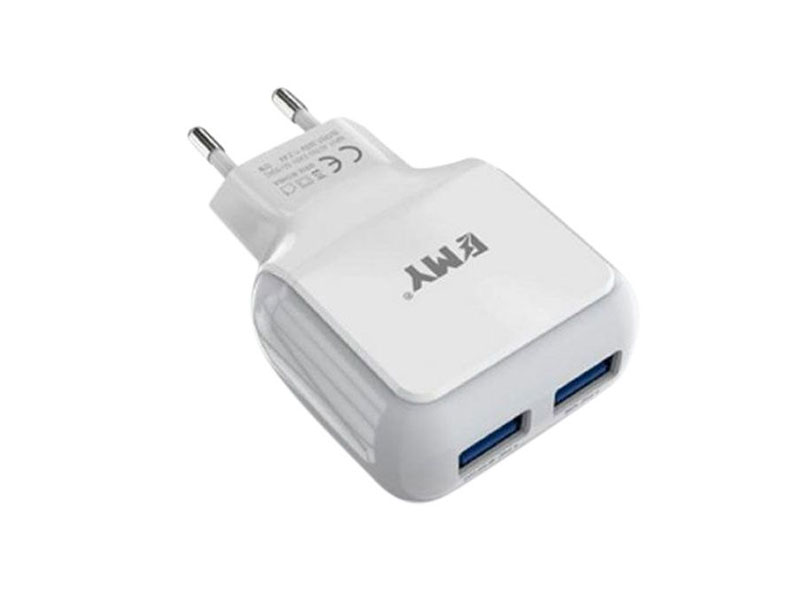 EMY Dual USB 2.4A Fast Charger For iPhone