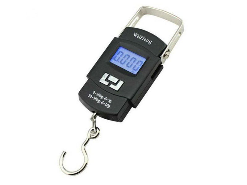 LCD Digital Hanging Weight Hook Scale - Black