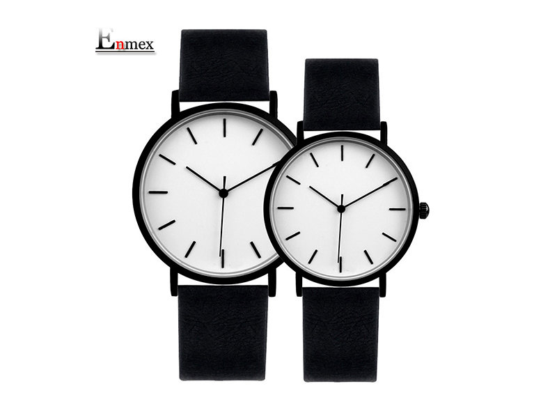 Enmex Couple Wrist Watch With Bracelet