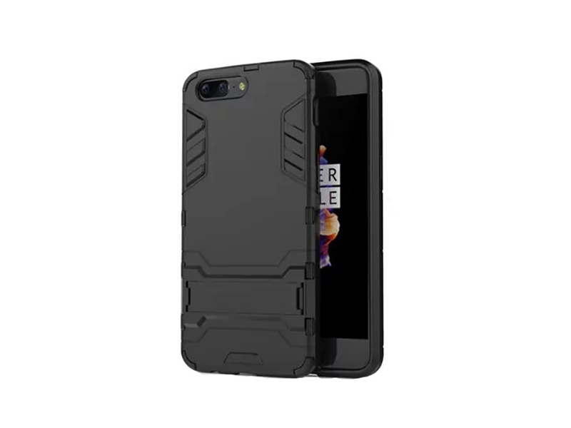 Oneplus 5T Ironman Back Cover - Black