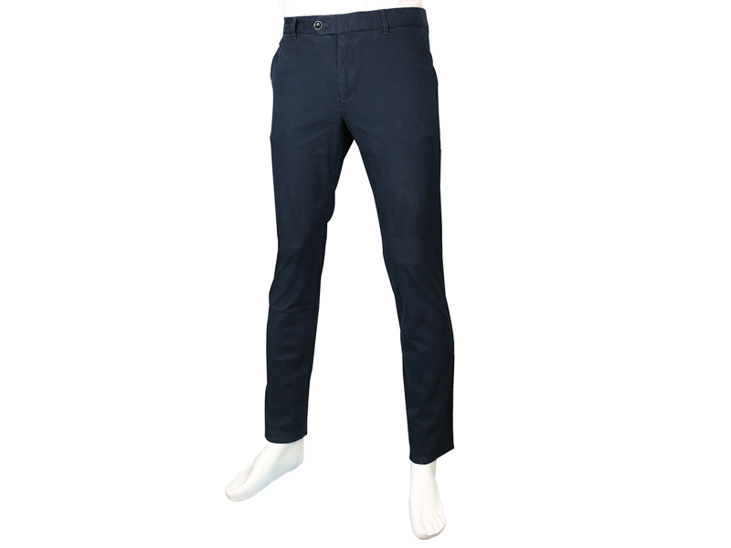 Mango Man-Gabardine Pants-Navy Blue