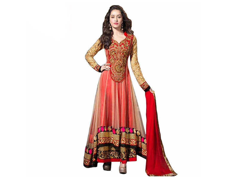 Red Color Full Sleeve Party Dress
