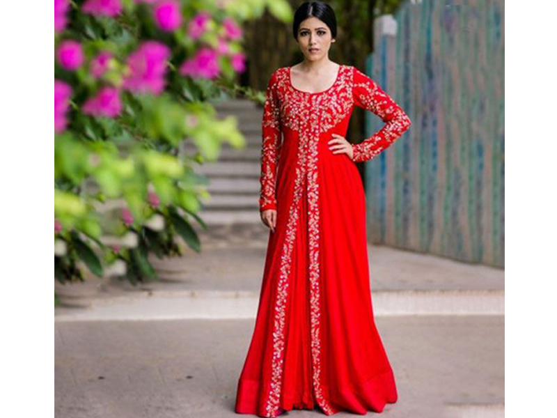 Long Party Gown - Red Color