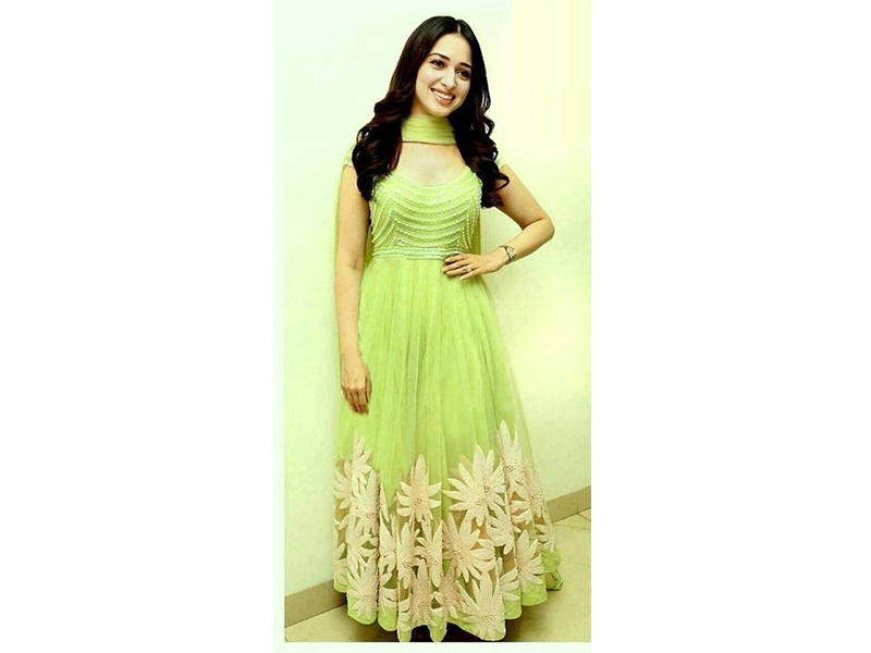 Light green color Party Dress