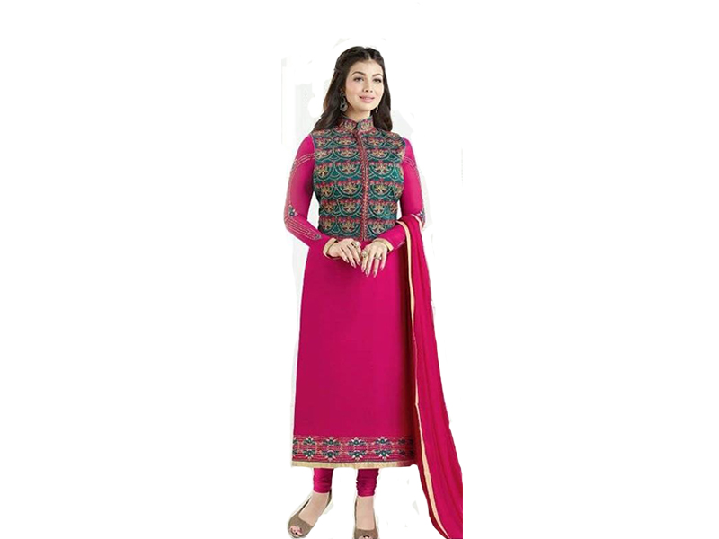 Pink Color Full Sleeve Salwar Kameez