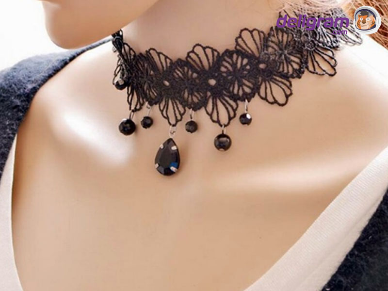 B&B Large Crystal Pendant Flower Tassel Long Chain Necklace
