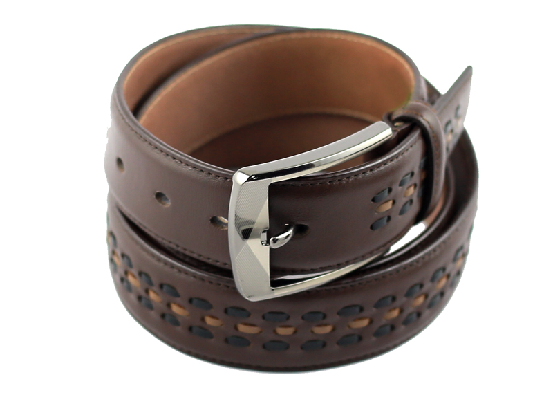 CL Fashionable Chocolate Leather Belt for Men